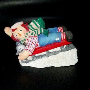 ENESCO Raggedy Andy Sled figurine